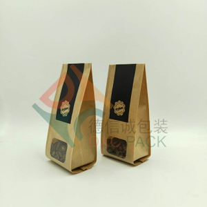 Kraft coffee bags with custom design window