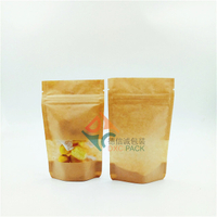 Clear Eco Friendly Kraft Paper Stand Up Pouches with Zip Lock for Oatmeal Packaging