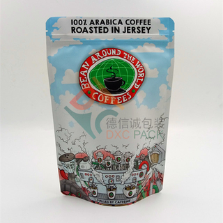 Metallized Stand Up Coffee Bags with Zipper