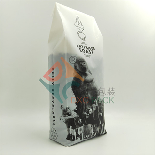 Fully Recyclable Custom Printed Side Gusset Coffee Bags with One-way Valve