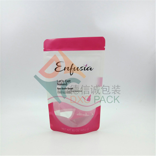 Ziplock Recyclable Stand Up Shampoo Pouches with Clear Window