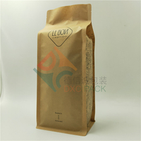 Biodegradable Flat Bottom Coffee Packaging Pouches with Valve