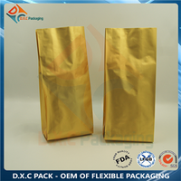 500g glod side gusset bag for coffee packaging