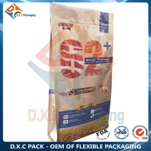 15kg Animal Pet Food Packaging Side Gusset Bag With Zipper