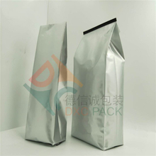 Aluminum Foil Side gusset Coffee Bags with Valve in Silvery Color