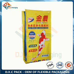 3kg-15kg fish food large packing side gusset bag with barrier material