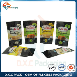 Custom Printing Metal Foil Stand Up Snack Pouch