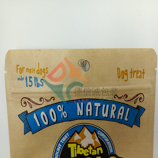 Customized Pet Food Packaging with Zipper and Clear Window