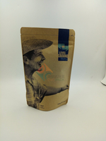 Brown stand up food packaging kraft bag with flexo printing