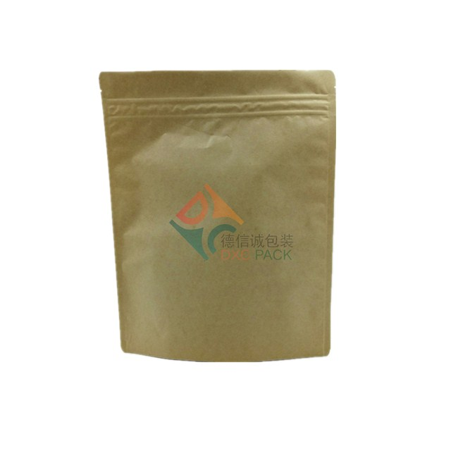 Kraft paper stand up food packaging ziplock bag 5000ml