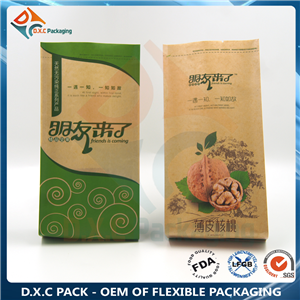 Kraft paper side gusset pouch for food packaging