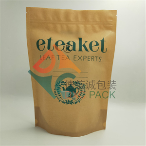 Custom Printed 100% Recyclable Stand Up Tea Bag Packaging with Zipper
