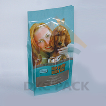 10kg-25kg Aluminum Laminated Quad Seal Dog Food Packaging Bag with Custom Printing