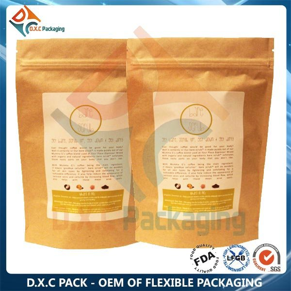 Plastic Health Food Packaging Heat Sealing Bag With Zipper