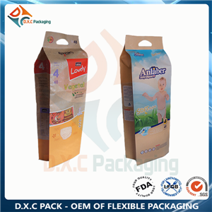 Kraft paper pouch side gusset pouch with high volume for napkin packaging