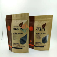 Bulk kraft paper stand up pouches used for food packaging