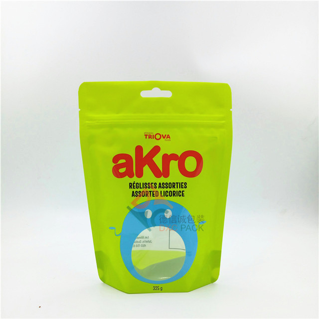 Custom stand up printed airtight food packaging bags