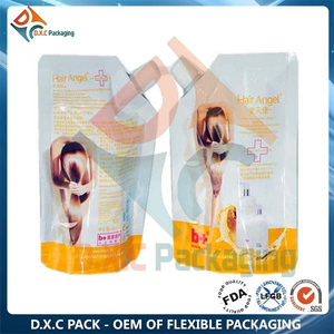 Stand Up Liquid Pouch Packaging with Spout for Shampoo