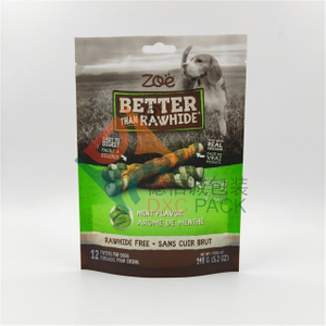 8 oz Custom Printed Eco Friendly Dog Food Packaging with Window