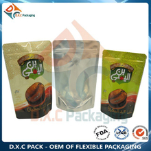 Stand Up Pouch with Zipper & Valve Aluminum Foil Packaging for Coffee
