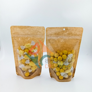 Customized Clear Window Zip Closure Plastic Oatmeaal Grain Food Packaging Stand Up Bags