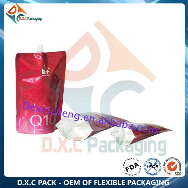 Resealable Foil Spout Bag with Custom Printing For Liquid