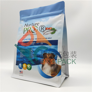 4lb Custom Printing Matte Flat Bottom Dog Food Bag with Zipper