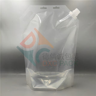 3000ml Clear Stand Up Spout Pouch with Handle for Liquid Packaging