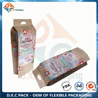Kraft paper pouch side gusset pouch with high volume for diapers packaging