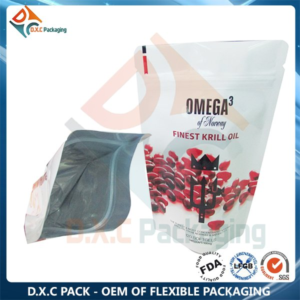 Heat Sealing Stand Up Bag For Health Food Packaging