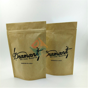 Brown Kraft Paper Stand up Pouches with Zip Lock For Health Food Oatmeal Grain Packaging