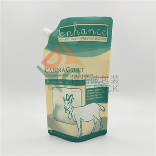 Matte Finish Printing Spout Stand Up Pouch For Pet Food